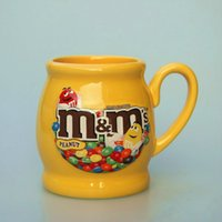 Wholesale Large Beans - Wholesale- Cute M&M's MM Beans Drink Large Capacity Version of Foreign Trade Porcelain of Coffee Milk Cups Bowl Mugs