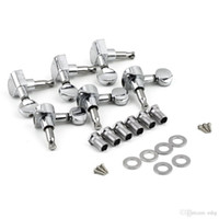 Wholesale Guitar Tuning Heads - 6R Right 6L Left 3L+3R String Tuning Pegs Tuners Tuner Chrome Inline Guitar Machine Head 6R Right