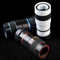 Wholesale Iphone Telephoto - Camera Lens 8x Telephoto Lens Fisheye Wide Angle Macro Lens for iPhone 7 6s plus Samsung Galaxy S8 S7 Edge