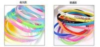 Wholesale Silicone Luminous Bangle - Colorful glow fluorescence silicone bracelet hand ring luminous jewelry creative Emitting luminous jelly glow bracelet customized ZD139