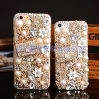 Wholesale note5 luxury case for sale – best Luxury Crystal Diamond Case For iPhone s Plus Rhinestone Shockproof Case Back Cover Samsung Galaxy NOTE5 S7 S6 Edge