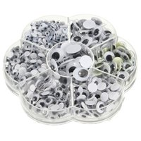 Wholesale Googly Eyes Doll - Universal 700Pcs 4 5 6 7 8 10 12mm Total Mixed Googly Eyes Self-adhesive DIY Scrapbooking for Teddy Bear Stuffed Toy Doll Parts