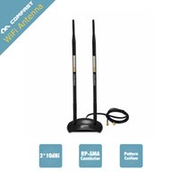 Großhandel-Comfast CF-ANT2410DA 2.4GHz 10dBi 802.11b / g HIGH GAIN WiFi Antenne Antenne RP-SMA Stecker für PCI-Karte USB Wireless Router