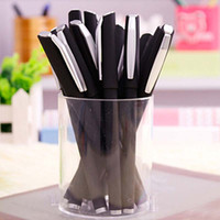 Wholesale ball point pen black - 12 pieces Lot High Quality Ball Point Pen Scrub Shell Rollerball Pens Writing Pens Stationery Novelty Pens Promotional Pens Papelaria