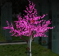 Wholesale Cherry Bulb Ships - LED Artificial Cherry Blossom Tree Light Christmas Light 1040pcs LED Bulbs 2m 6.5ft Height 110 220VAC Rainproof Outdoor Use Free Shipping