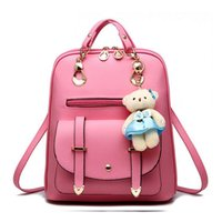 Wholesale Bags Korean Girls - 2017 Women Backpack New Spring And Summer Students Backpack Girls Korean Style Backpacks With Bear High Quality