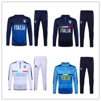 Wholesale Sets Sportswear - Italy Survetement 16-17 Italy training suit 16-17 Italy tracksuits tight pant 16-17 Italy traning set sportswear 2016 Italy soccer tracksuit