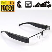 Wholesale Glasses Sport Video - Full HD 1080P Glasses Spy Hidden Sport Camera DVR Video Recorder Eyewear DV Cam