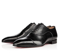 Wholesale classic leather mens shoes oxford - Brand Fashion Red Bottom Shoes Classic Outdoor Genuine Leather Oxford Shoes Mens Womens Walking Flats Wedding Party Loafers Luxury 35-46