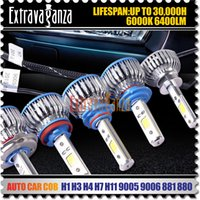 Xénon blanc led h7 France-360 Car COB H1 H3 H4 H7 H119005 9006 880 Kit de phare à LED de remplacement Ampoule 60W 6400lm 6000K 12V Xenon White