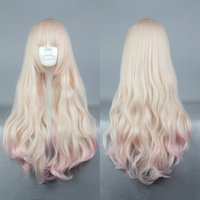 Wholesale Multi Colored Long Wigs - Free Shipping Heat Resistant >>Lolita 70CM Long Multi-colored High Quality Girl's Party Wig Cosplay Full Wig