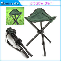 Wholesale Wholesale Portable Stools - foldable fishing chair Portable hot sale Portable metal fishing stool for Fishing Camping garden beach picnic Fold Chair