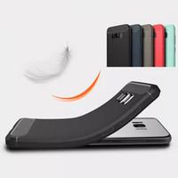 material de la caja móvil al por mayor-Moda a prueba de golpes Armor Case para Samsung Galaxy S8 S8Plus iPhone7 7plus de fibra de carbono TPU Material de dibujo cajas del teléfono móvil cubierta Capa