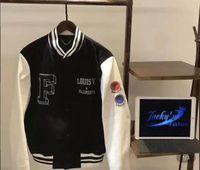 Wholesale Jacket Hood For Women - OFF-WHITE Black Fragment Jacket For Men women Classic Embroidery Logo Baseball Jersey Jackets Winter Cardigan Hood Coat