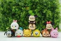 Wholesale Winnie Pooh Toys Wholesale - 10pcs   set Cute Mini Mickey Minnie Winnie the Pooh cartoon educational toys Sound Production TSUM Set Decoration