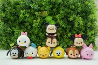 Wholesale Sound Production - 10pcs   set Cute Mini Mickey Minnie Winnie the Pooh cartoon educational toys Sound Production TSUM Set Decoration
