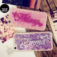 Wholesale Exclusive Cases - Exclusive Customize Name Personal Glitter gold foil soft phone case for iphone 5 6s plus Samsung s6 s7 edge note 4 5