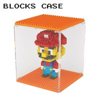 Barato Show Case Wholesale-Diamond Blocks Display Case Blocks Bricks Figures Show Box Brick Toy Building Blocks Mostrando Casaco Atacado Frete Grátis