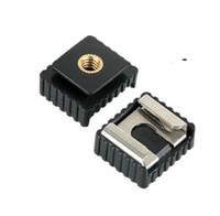 Wholesale Hotshoe Adapter - Wholesale- 1pcs SC-6 SC6 Cold Hot Shoe Adapter Standard Mount Hotshoe to 1 4 Thread For Flash Speedlite Tripod Photo Studio Accessories