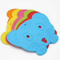 Wholesale Food Tigers - Lovely tiger silicone cartoon mat Food-grade silicone cup pad Insulation pad thickening high-temperature kid dining mat