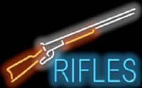"""Wholesale Rifle Shooting Sports - Rifles with Graphic Neon Sign Custom Real Glass Neon Company Training Center Shooting Sport Game Display Advertising Sign 32""""X20"""""""