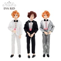 Barato Terno Bjd-1/6 BJD Doll 30cm 14 bonecas articuladas olhos 3D Gentleman Wedding Bridegroom Gift Toy Man Suit Brown Golden Cake Model Decorat DB027