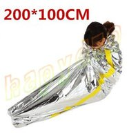 Wholesale Cars Deals - hot first aid Outdoor life-saving deal Portable Waterproof Reusable Emergency Rescue Foil Camping Survival Sleeping Bag 200*100CM