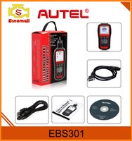 Wholesale Vw Brake Tools - Genuine AUTEL MaxiService EBS301 Electric Brake Service Tool Multi-brand applications Read and Clear EPB SBC trouble Codes Update Online