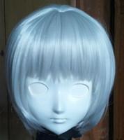 Wholesale japanese anime silicone dolls - (C2-036) Luxurious Perfect Customized Female Silicone Rubber Half Face KIG Masks Cosplay Kigurumi Mask Crossdresser Doll