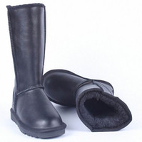 Wholesale Waterproof Long Boots - Winter New Snow Boot Women Waterproof Leather Fashion Boot Ladies Tall Knee-High Plush Warm Long Boots Plus Size 43 44