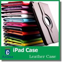 couverture de protection intelligente magnétique achat en gros de-Support pivotant à 360 degrés pivotant magnétique en cuir PU Smart Cover de protection solide pour iPad iPad IPAD2 / 3/4 IPAD Air 2 MINI1 / 2/3 MIN