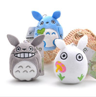 Wholesale Staff Animal - 10pcs lot 9cm Mini Cartoon Totoro Plush Pendant Staffed Soft Anime Totoro Key Chains Bag Pendant Kids Love Toys Doll Gift