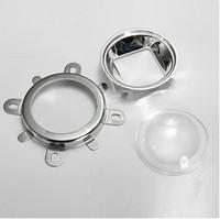 vidro óptico conduzido venda por atacado-A lente de vidro ótica secundária de D44mm com ângulo de feixe do copo 60 do refletor para o poder superior 20w-150w conduziu shippiing livre