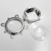 объектив для светодиодов большой мощности оптовых-Объектив вторичного оптически стекла D44mm с углом пучка чашки 60 рефлектора для наивысшей мощности 20w-150w вел свободно shippiing