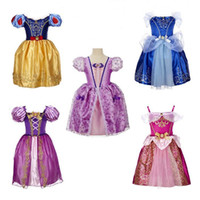 Knee-Length spring bubbles - Baby Girls Dress Kids Lace Princess Dress Bubble Ball Gown Strapless Pleated Flower Bud Dresses Party Evening Clothes Free DHL