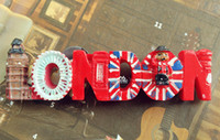 Wholesale Craft Ideas - decorative fridge magnets United Kingdom UK London Tourist Travel Souvenir 3D Resin Decorative Fridge Magnet Craft GIFT IDEA
