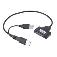 masaüstü için sabit disk toptan satış-100 adet USB SATA Adaptör Kablosu USB 2.0 2.5 Inç Masaüstü Laptop PC HDD Için HDD Sabit Disk