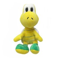 Wholesale Super Mario Koopa - Free Shipping Super Mario Bros. Koopa Troopa 20cm Plush Doll Fashion Lovely Cartoon Turtle Toys For Children