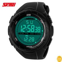 Wholesale Shockproof Watches - 2016 SKMEI F 1025 Running Waterproof multifunction sports watch Chronograph Shockproof electronic wrist watch
