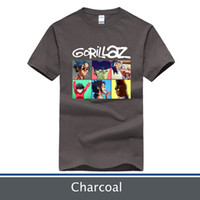 Wholesale Rock T Shirts Xxl - High Quality More Color 100% Cotton rock T-shirt Gorillaz T-Shirts (Size:XS to XXL)
