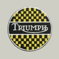 Wholesale Factory Cloths - Triumph custom logo patch iron on cloth hat or bag free shipping can be custom embroidery factory in china