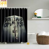 Wholesale Shower Curtains Polyester - Bathroom Shower Curtains Scary Hand Pattern Creative Digital Printing Bath Towel Curtain High Quality Bathroom Drop Shipping