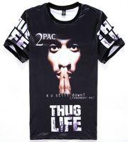Wholesale Casual Life - tshirt America Hip hop t-shirt men's 3d tshirt print Tupac 2pac THUG LIFE t shirt casual tops Young tees H11