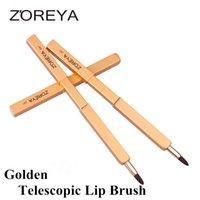 Wholesale Brush Zoreya - Hot Sale ZOREYA Adjustable Lip Brush Soft Synthetic Fiber Makeup brush best quality Retractable Lip Brush 3 colors optional DHL Free