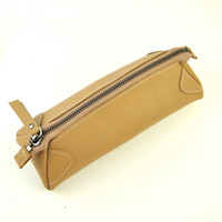 Wholesale Vintage Leather Makeup Case - Women Genuine Leather Makeup Bag Beauty Case Cosmetic Vintage Clutch Bags Retro Pouch Fashion Purse Organizer Causal Daily Lady
