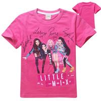 kleine kinder tops groihandel-Neueste Design Kurzarm große Mädchen T-Shirt Little Mix Kinder Baumwolle T-Shirt Tops Kinder Cartoon Kleidung Mädchen T-Shirts 120 130 140 150 160