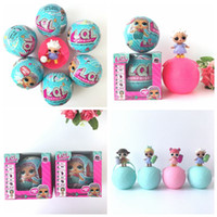 Wholesale Wholesale Mermaid Toy - Chirstmas Gift 7 Steps LOL Surprise Doll Adorable Series 1 Mermaids 7 Wave Mystery Packs LOL Suprise Dolls Make Surprise Removable Egg Toy