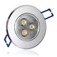 Wholesale 12v Ceiling Lamp - 9W CE RoHS 3 Year Warranty 3x3W 12V 110V 220V 85-265V LED Ceiling Light Lamp Recessed Lighting Fixture For Living Room