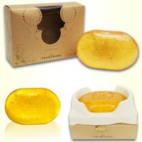 Wholesale Whitening Beauty Soap - Revitalizing Repairing Beauty 24K Gold Facial Cleaning Soap For Face Care Whitening Skin handmade Soap gift Drop Shipping