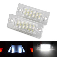 Wholesale Vw Plate Light - 2Pcs Error Free 18 LED License Number Plate Light Lamps Bulb fit for VW Caddy Transporter Passat Golf Touran Jetta Skoda T5